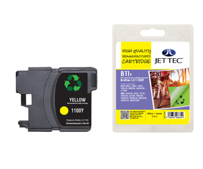 Jet Tec Tintenpatrone (gelb) [B11Y]