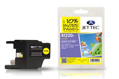Jet Tec Tintenpatrone (gelb) [B1220Y]