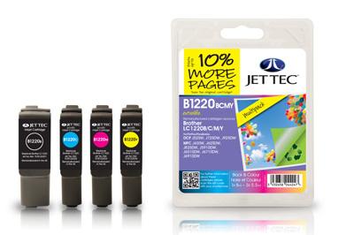 Jet Tec Tintenpatronensatz (4 Patronen) B1220BCMY