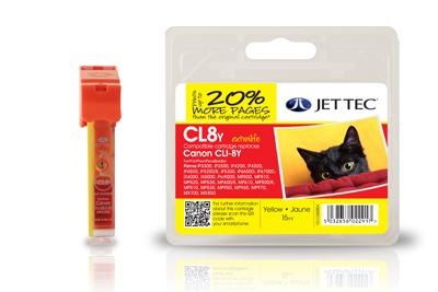 Jet Tec Tintenpatrone (gelb) [CL8Y]