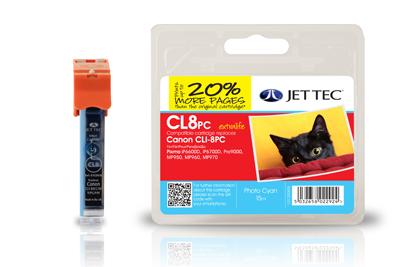 Jet Tec Tintenpatrone (photo-cyan) [CL8PC]