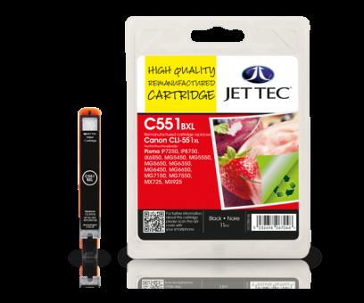 Jet Tec Tintenpatrone (schwarz) [C551BXL]