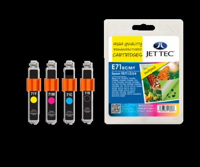 Jet Tec Tintenpatronensatz (4 Patronen) E71B/C/M/Y