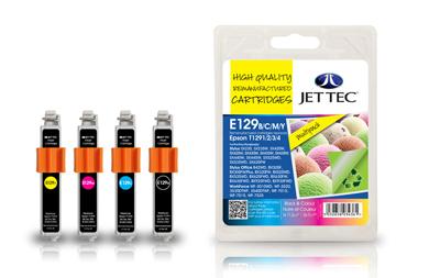 Jet Tec Tintenpatronensatz (4 Patronen) E129B/C/M/Y