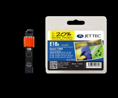 Jet Tec Tintenpatrone (schwarz) [E18B]