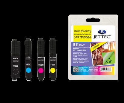 Jet Tec Tintenpatronensatz (4 Patronen) B11BCMY