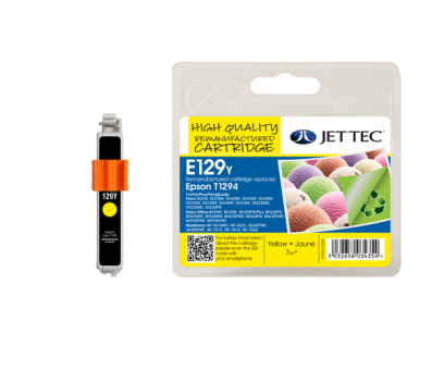 Jet Tec Tintenpatrone (gelb) [E129Y]