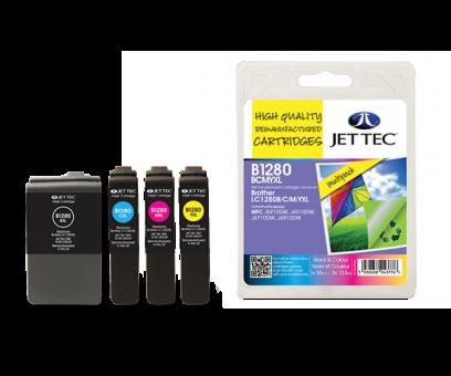 Jet Tec Tintenpatronensatz (4 Patronen) B1280BCMYXL