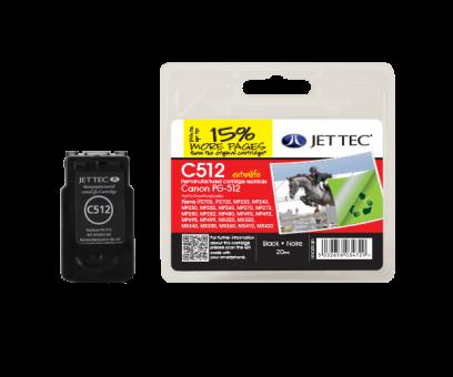 Jet Tec Tintenpatrone (schwarz) [C512]