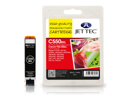 Jet Tec Tintenpatrone (schwarz) [C550BXL]