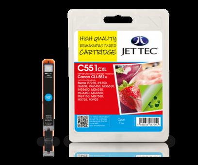 Jet Tec Tintenpatrone (cyan) [C551CXL]