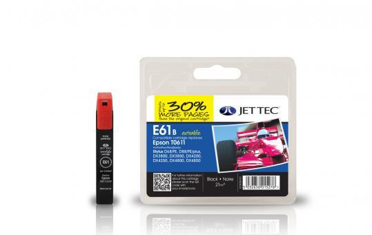Jet Tec Tintenpatrone (schwarz) [E61B]