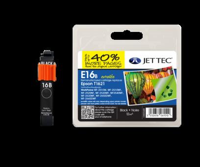 Jet Tec Tintenpatrone (schwarz) [E16B]