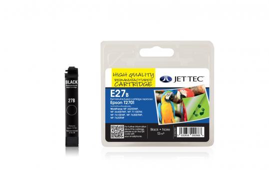 Jet Tec Tintenpatrone (schwarz) [E27B]