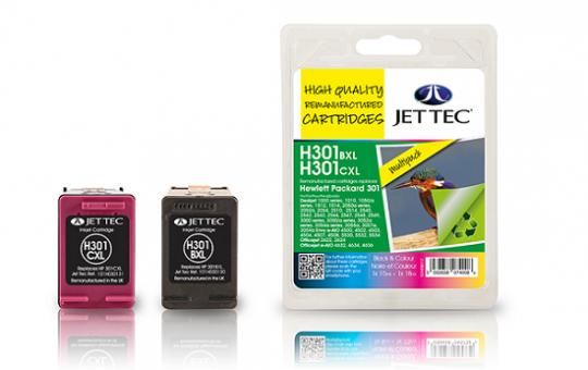 Jet Tec Tintenpatronensatz (2 Patronen) H301XLB / XLC