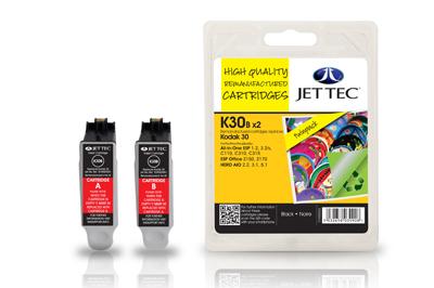 Jet Tec Tintenpatronensatz (2 Patronen) K30BB