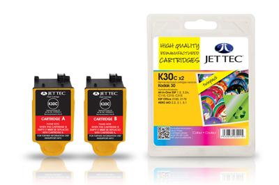 Jet Tec Tintenpatronensatz (2 Patronen) K30CC